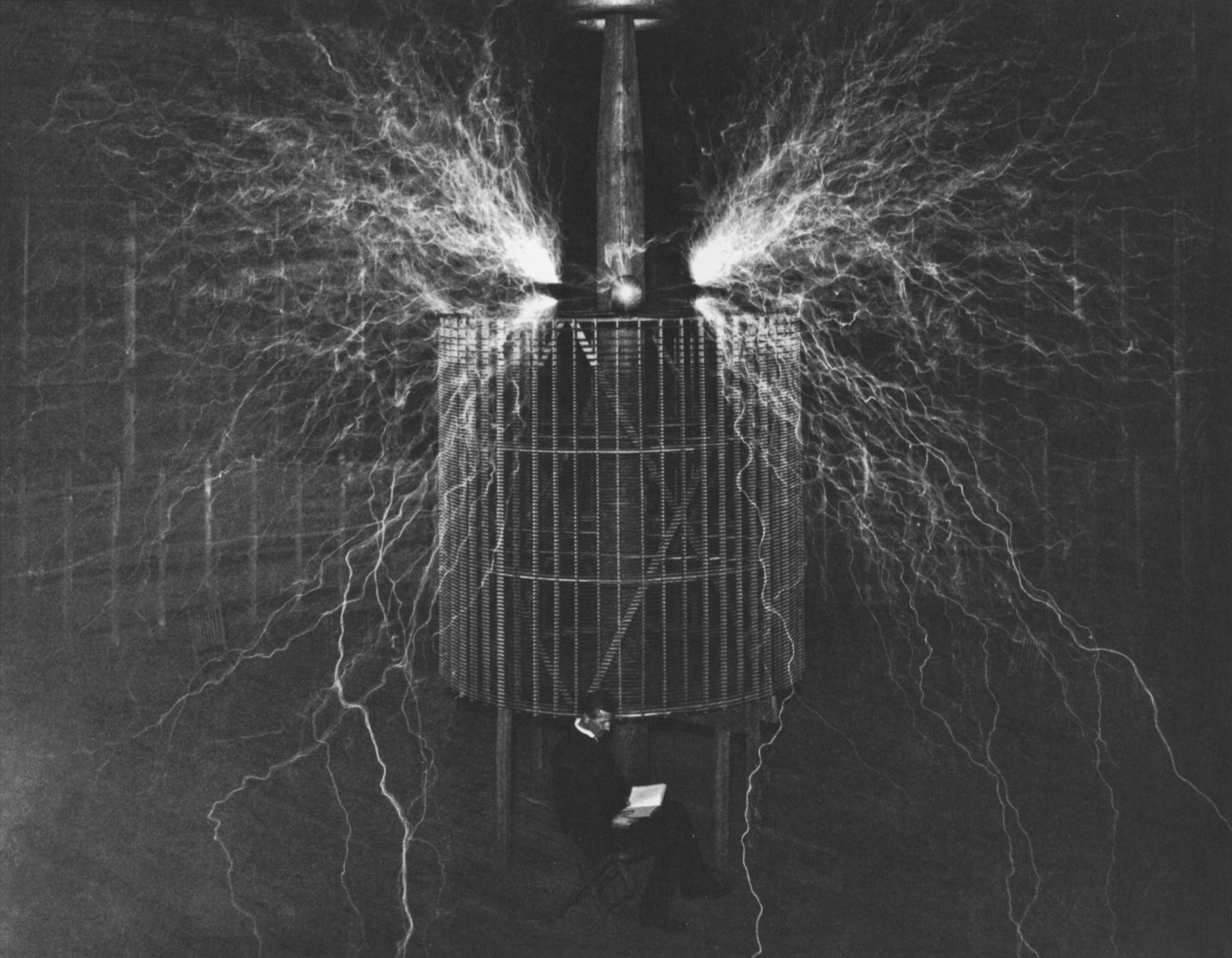 the unstoppable nikola tesla ii adaptive curmudgeon another double exposure i wonder what the hell he s reading in that book