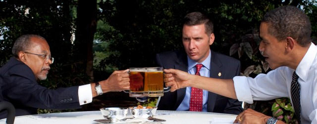 So it's agreed; Henry here gets to say he met the president, I get a photo op, and whitey here has to suck it up and smile.