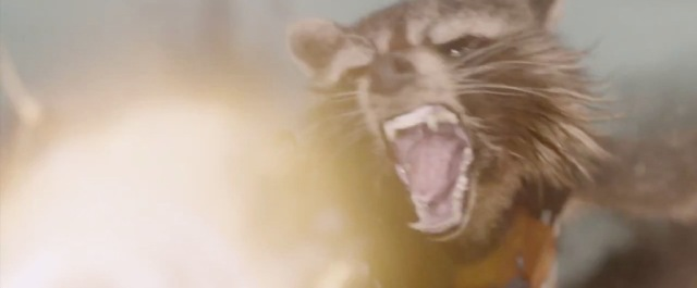 Rocket Raccoon is exactly like the raccoons that raid my chicken coop. Very realistic.