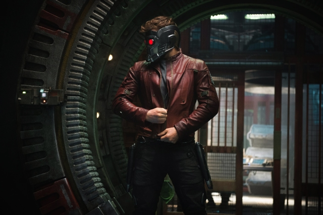 A slight casting misstep. Cool headgear and a leather jacket don't make up for the fact that the Starlord is a pothead from That 70's Show.