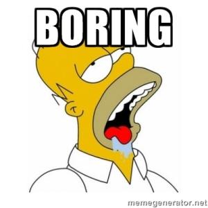 homer simpson boring