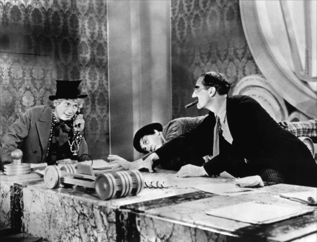 """Who you gonna believe, me or your own eyes?"" Groucho Marx, Duck Soup, 1933."